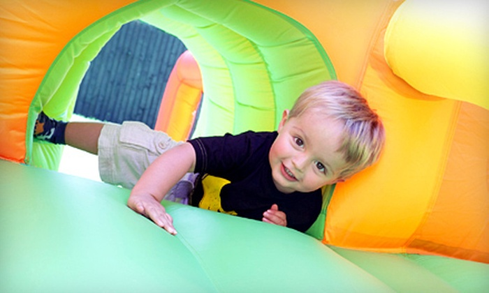 Jump Around Town - Suncrest: Bounce-House Playtime for Two, Four, or Six, or 10 Single Play Sessions at Jump Around Town in Orem (Up to 61% Off)