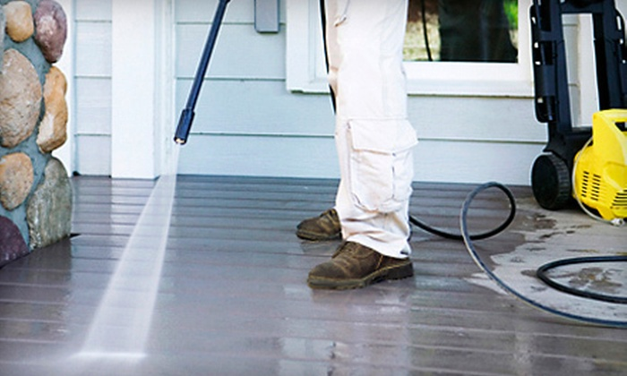 Soap Slingers - Lansing: Deck, One- or Two-Story House Exterior, or Roof Power Washing from Soap Slingers (Up to 51% Off)