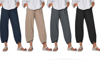 Women's Elastic Waist Loose Pants