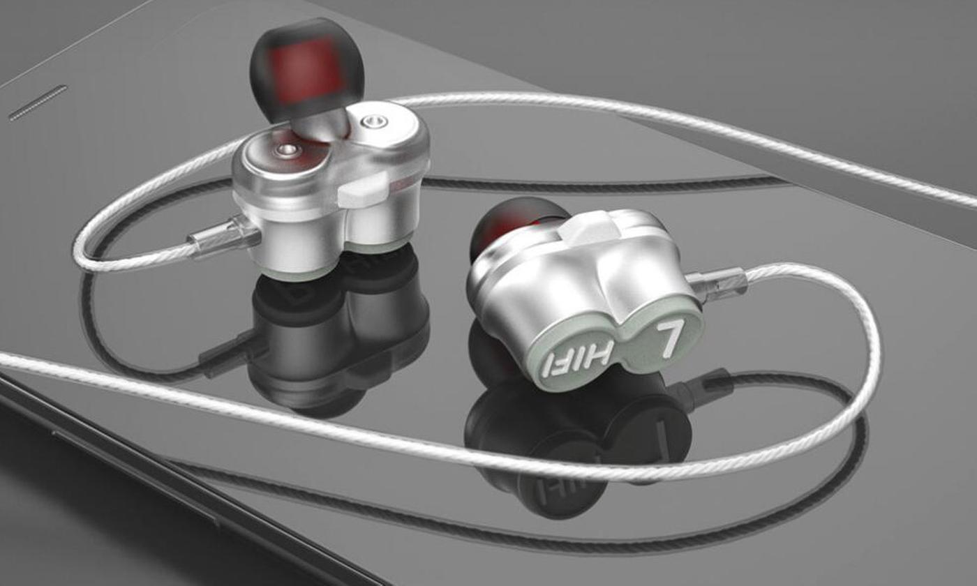 One or Two Pairs of Dual Drive Earphones