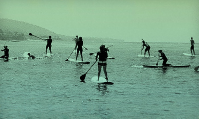 Paddle Party 2012 Hosted by Laguna Beach Paddle Boarding & Cal Coast Fitness - Orange County: Paddle Party 2012 for One, Two, or Four Hosted by Laguna Beach Paddle Boarding in Newport Beach (Up to 54% Off)
