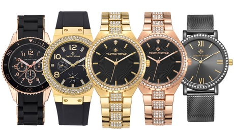 Relojes Timothy Stone decorados con cristales Swarovski colección Black® (envío gratuito)