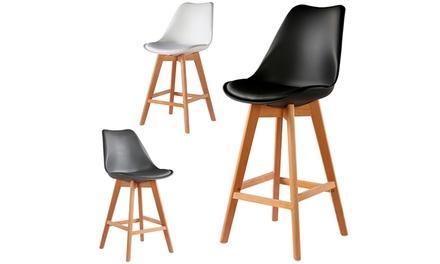 lot de 2 tabourets scandinaves groupon shopping. Black Bedroom Furniture Sets. Home Design Ideas