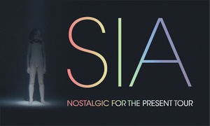 SIA: SIA -  Nostalgic For The Present Tour: Tickets from $99, 5 December 2017, Mt Smart Stadium