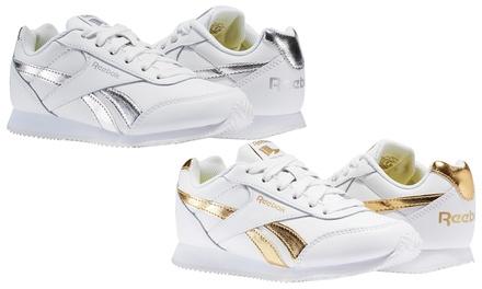 Reebok Sneaker in SilberWeiß oder GoldWeiß für Damen und Kinder in der Größe nach Wahl inkl. Versand (Frankfurt)