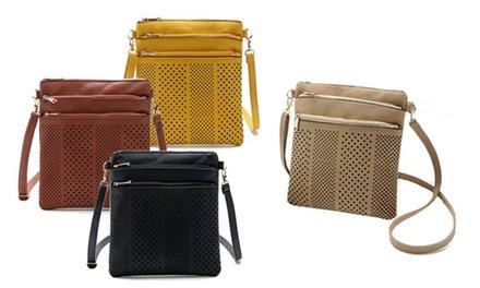 One or Two Women's Three-Zip Cross-Body Handbags