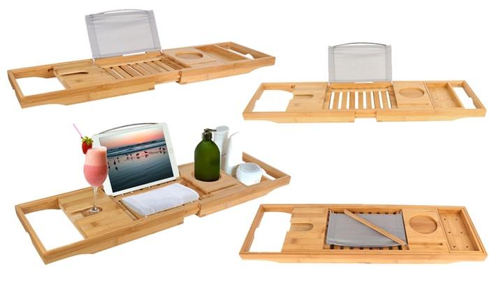 Up To 43% Off on iMounTEK Bamboo Bathtub Tray | Groupon Goods