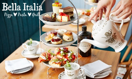 Italian Afternoon Tea with Gin for Two at Bella Italia (32% Off) (Merchandising (UK))