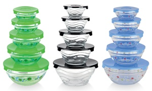 Glass Nesting Bowls with Lids Set (10-Piece) at LLC, plus 6.0% Cash Back from Ebates.
