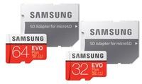 Una o 2 schede MicroSD Samsung EVO Plus modello 2017 con adattatore SD disponibili in varie capacità