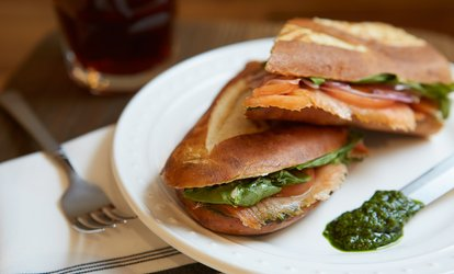 Panini, Pastry and Drink for Up to Four at The Platform Club (Up to 46% Off)