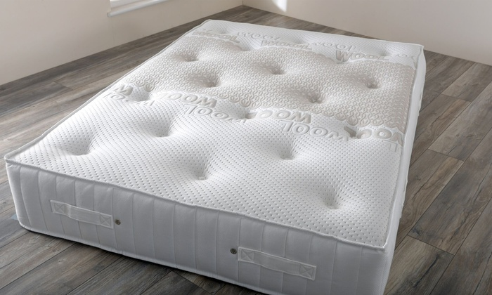 Natural Wool Comfort 3500-Pocket Sprung Memory Foam Mattress in a Choice of Size from £199 With Free Delivery