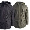 Men's Sherpa-Lined Double-Closure Jacket with Detachable Hood