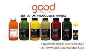 Good Organic Only: Jus pressés et cures detox 100% bio à -40% sur le site de Good Organic Only