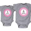 Infant Girls' Milestone Month Bodysuits