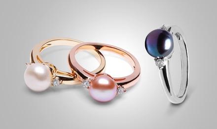 Bague The Gemseller en perle de culture et ornée de cristaux Swarovski® à 9,90€ (83% de réduction)