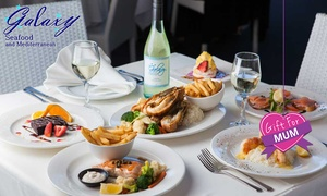 Galaxy Seafood & Mediterranean Restaurant: Lunch or Dinner: One ($29.50) or Four People ($116) at Galaxy Seafood Mediterranean Restaurant (Up to $242.80 Value)