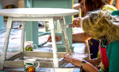 image for Shabby Chic Furniture Painting Workshop with an Optional Stencil Workshop by DIY Shabby Chic (Up to 72% Off)