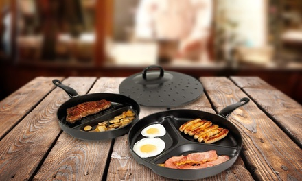2 NonStick Divider Frying Pans for £9.98