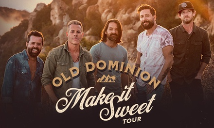 Old Dominion's Make It Sweet Tour with Special Guests Scotty McCreery and Ryan Hurd on Friday, November 1, at 7 p.m.