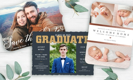 40, 70, or 100 Custom Photo Cards from PhotoAffections (Up to 81% Off )