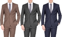 Gino Vitale Men's Light Glen-Check Slim-Fit Two-Piece Suit