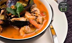 Skina do Peixe: Skina do Peixe – Engenho do Mato: creme de batata baroa com camarão ou caldeirada de frutos do mar para 2 ou 4 pessoas