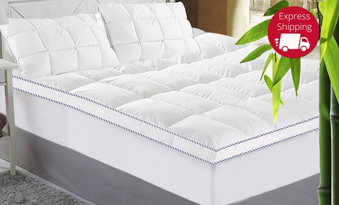 Bamboo Mattress Topper - Single ($49), Double ($65), Queen ($69) or King ($79) (Don't Pay up to $179)