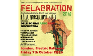 Felabration 2016: Felabration 2016 on 7 October at Electric Ballroom (Up to 25%)