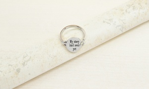Pink Box Second Edition Stainless Steel Inspirational Disc Ring