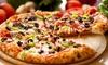 Menu pizza au choix pour 2 ou 4 personnes