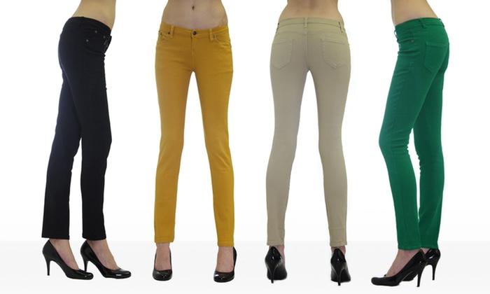 Dinamite 5-Pocket Skinny Twill Pants: Dinamite5-Pocket Skinny Twill Pants. Multiple Colors Available. Free Shipping and Returns.