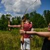 Bogen- und Blasrohr-Schießen