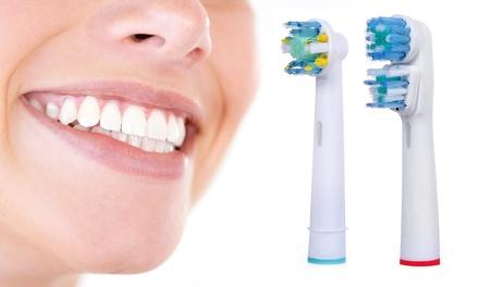 4, 8, 12 ou 16 têtes de brosse à dents compatibles Oral B Dual & Floss