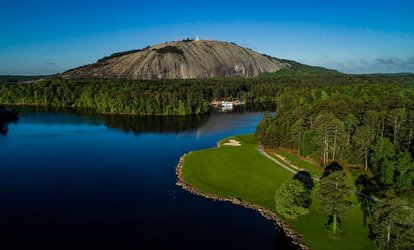 image for 18 Holes, Cart Rental, and Hot Dog with Chips and Soda for 1 or 2 at Stone Mountain <strong>Golf</strong> Club (Up to 42% Off)