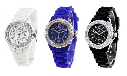 Schicke Armbanduhr in der Farbe nach Wahl mit Kristallen von Swarovski® (71% sparen*)