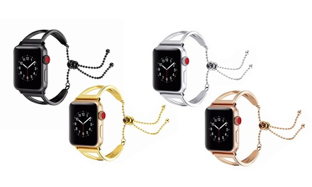 $25 for a Stainless Steel Bracelet Cuff Band for 38mm or 42mm Apple Watch