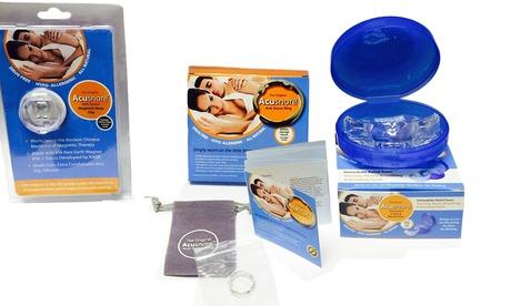 1, 2 o 3 sets antirronquidos Acusnore con protector bucal, anillo y pinza nasal Oferta en Groupon