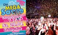 Stehplatz- oder VIP Ticket für die 90er Mega Sause am 29. Mai ab 22 Uhr in der Union Halle Frankfurt (bis zu 38% sparen)