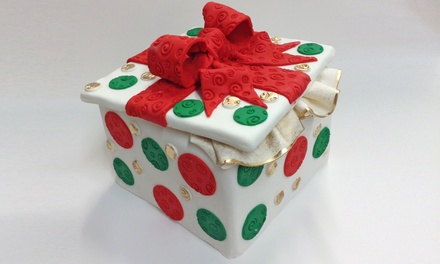Holiday Gift Box Cake or Three-Hour Cake Decorating Class for Two at Mighty Fine Cakes (Up to 62% Off)