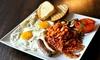 Frühstücksgericht und Pancakes