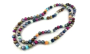 """36"""" Freshwater Pearl Endless Necklace by Valencia Gems"""