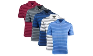 Adidas Men's Puremotion 2-Color Stripe Jersey Polo