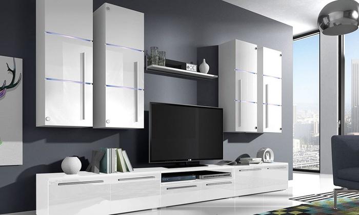 Credenza Moderna Groupon : Madia e parete soggiorno groupon goods