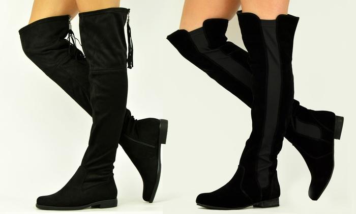 fff370de016 Women s Flat Over-Knee Boots