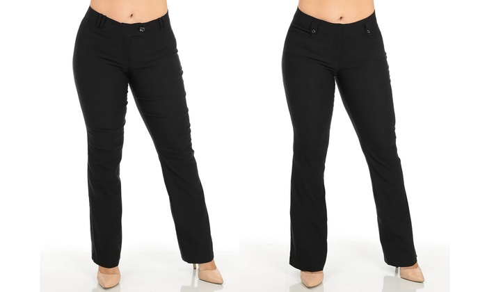 Up To 56% Off on Women\'s Plus-Size Dress Pants | Groupon Goods