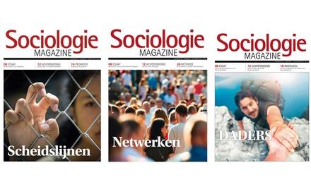 6, 9 of 12 nummers Sociologie Magazine je abonnement stopt automatisch