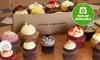 Six Mini Cupcakes and Coffee