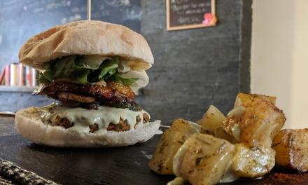 Menú biovegetariano para 2 personas con entrante, principal, bebida y postre por 19,95 € en Cookaluzka