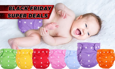 Reusable Cloth Nappies with Inserts: 7-Pack ($24.95) or 14-Pack ($45)